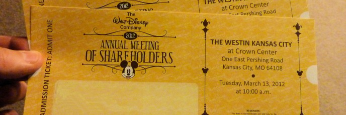 Tickets to Disney - 2012 59/366