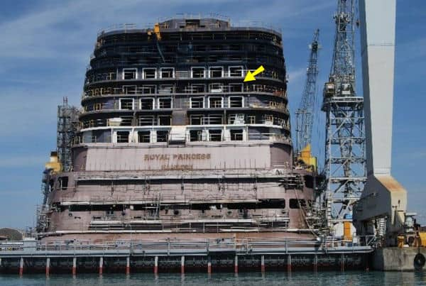 Royal Princess construction photo