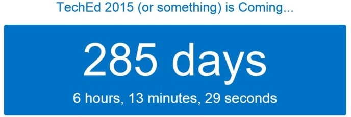 The TechEd Countdown is Back