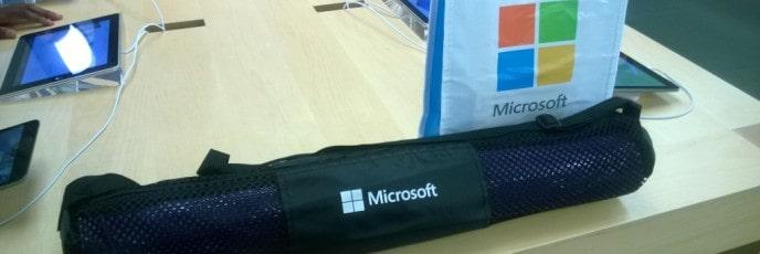 Microsoft Band yoga mat
