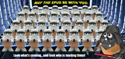 Darth Tater leads the SpudTroopers