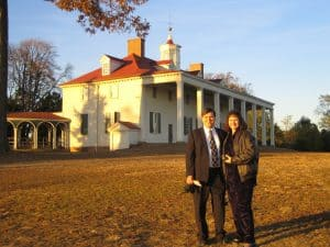 Scott and Kristin at Mount Vernon