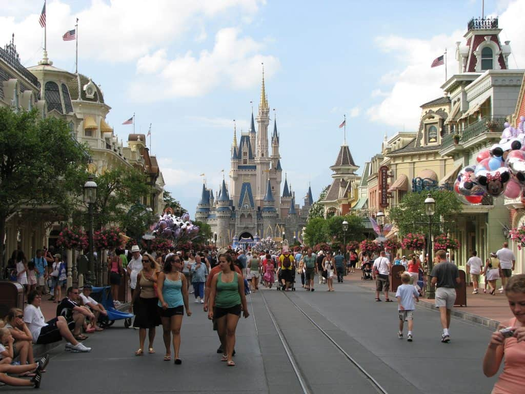 Cinderella Castle and Main Street