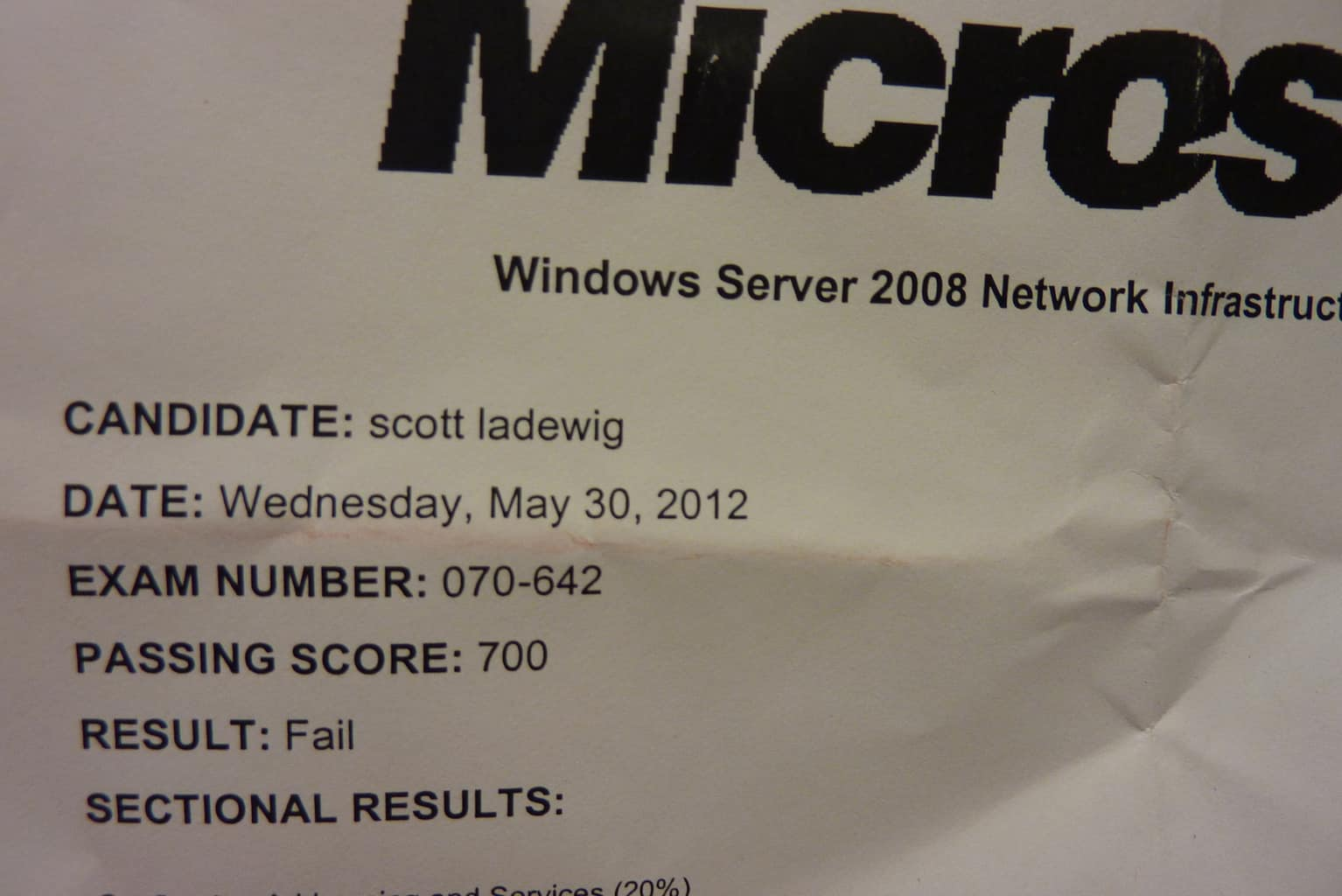 Certification fail attack of the 50 ft tiki yesterday morning i sat for the microsoft certification exam xflitez Gallery