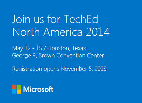 TechEd NA 2014 Registration Announcement