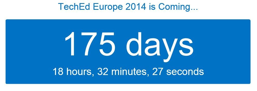 TechEd Europe Countdown