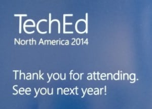 TechEd 2014 See you next year