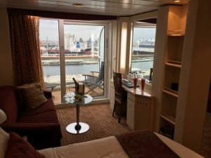 Balcony and sitting area in our Aqua Class cabin (1114)
