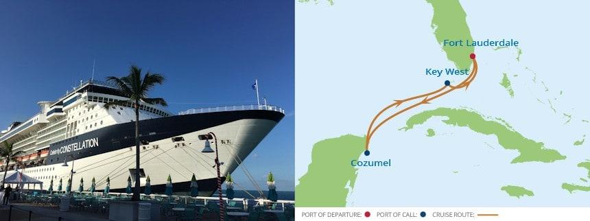 Celebrity Constellation in Key West on 5 night Western Caribbean Cruise