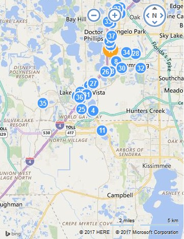 Microsoft Ignite 2017 Hotel Map (April 3, 2017)