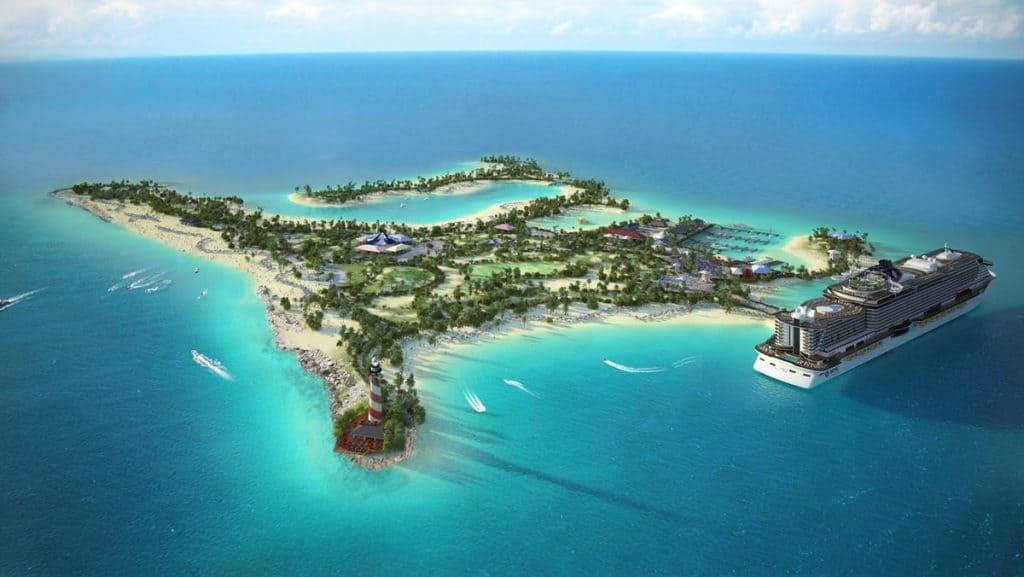 Rendering of Ocean Cay MSC Marine Reserve