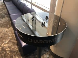 Charging Station in Preferred Lounge