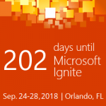 Microsoft Ignite Countdown 2018 - 202 Days